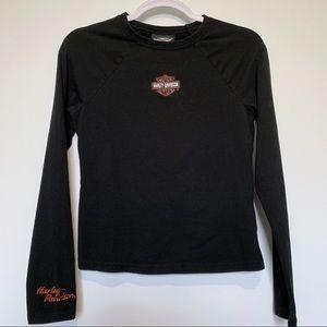 Harley Davidson Black Long Sleeve Tee Size S